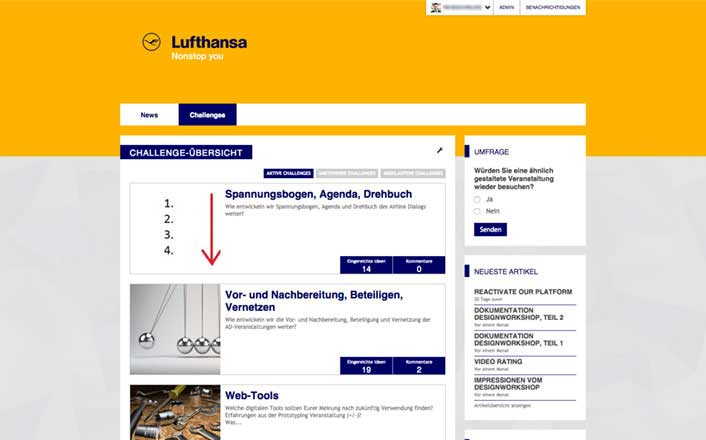Lufthansa team collaboration community