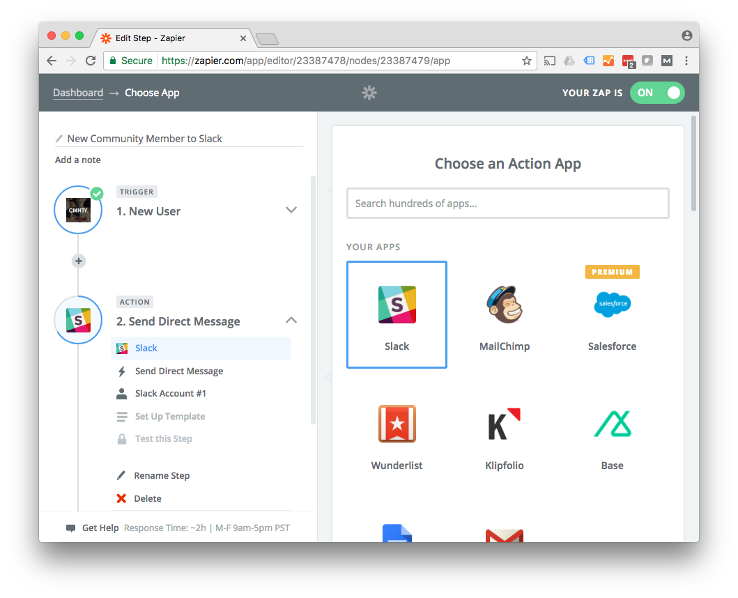 Zapier API Task Automation Interface